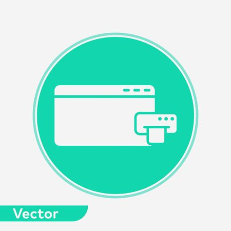 Browser icon vector, filled flat sign, solid pictogram isolated on white. Symbol, logo illustration. 写真素材 - 129389227