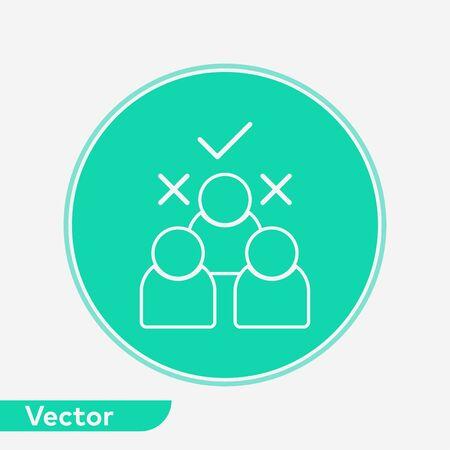 Choosing icon vector, filled flat sign, solid pictogram isolated on white. Symbol, logo illustration. Illustration