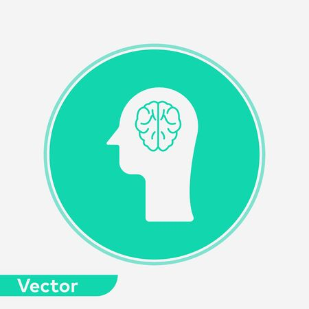 Brain icon vector, filled flat sign, solid pictogram isolated on white. Symbol, logo illustration.
