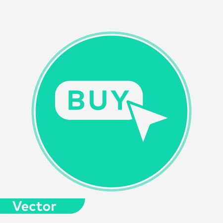 Buy button icon vector, filled flat sign, solid pictogram isolated on white. Symbol, logo illustration.