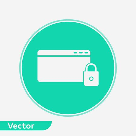 Browser icon vector, filled flat sign, solid pictogram isolated on white. Symbol, logo illustration. 写真素材 - 129434829