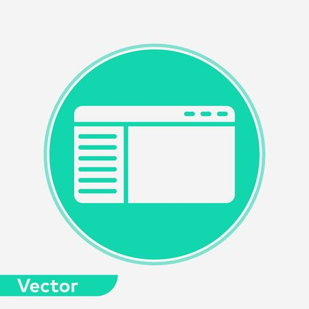 Browser icon vector, filled flat sign, solid pictogram isolated on white. Symbol, logo illustration. 写真素材 - 129434839