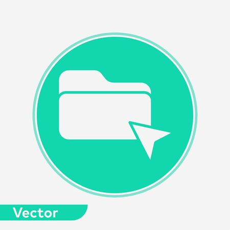 Click folder icon vector, filled flat sign, solid pictogram isolated on white. Symbol, logo illustration. Иллюстрация