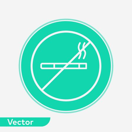 No smoking icon vector, filled flat sign, solid pictogram isolated on white. Symbol, logo illustration.