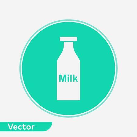 Milk bottle icon vector, filled flat sign, solid pictogram isolated on white. Symbol, logo illustration. Ilustração