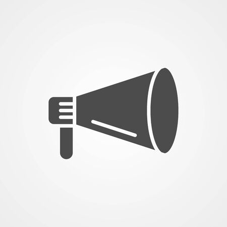 Megaphone icon vector, filled flat sign, solid pictogram isolated on white. Symbol, logo illustration.  イラスト・ベクター素材