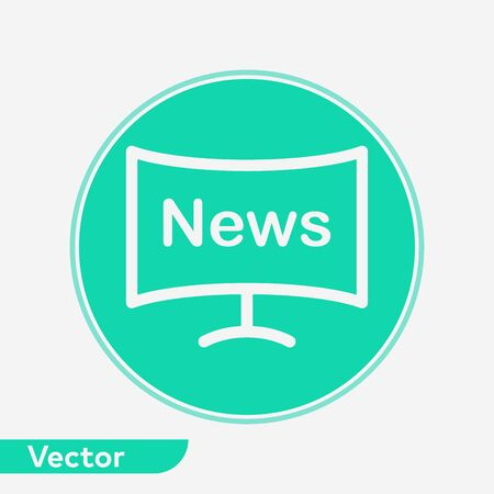 News icon vector, filled flat sign, solid pictogram isolated on white. Symbol, logo illustration.