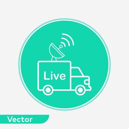 News van icon vector, filled flat sign, solid pictogram isolated on white. Symbol, logo illustration. 写真素材 - 129436333