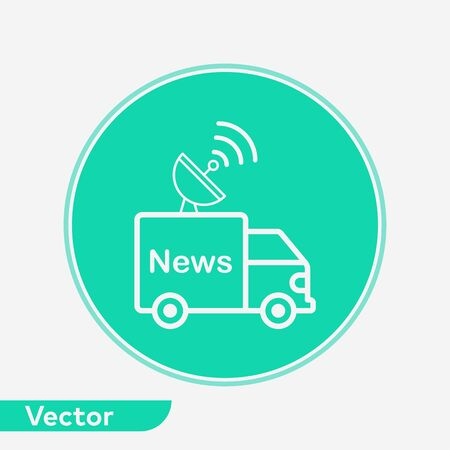 News van icon vector, filled flat sign, solid pictogram isolated on white. Symbol, logo illustration. 写真素材 - 129436514