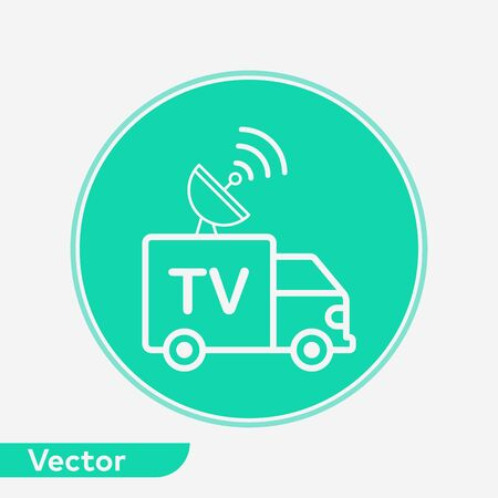 News van icon vector, filled flat sign, solid pictogram isolated on white. Symbol, logo illustration.