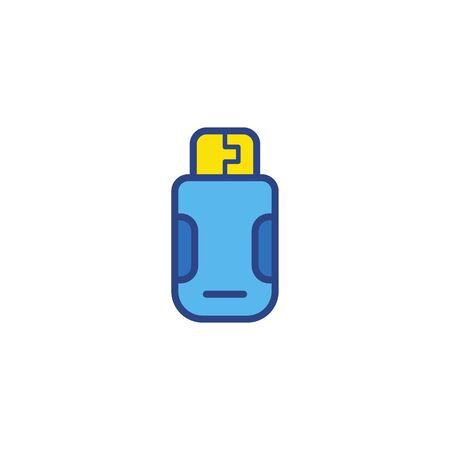 Pen drive icon vector, filled flat sign, solid pictogram isolated on white. Symbol, logo illustration. Иллюстрация