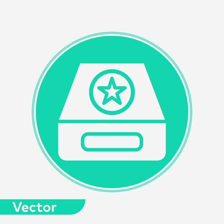 Inbox icon vector, filled flat sign, solid pictogram isolated on white. Symbol, logo illustration. Vettoriali