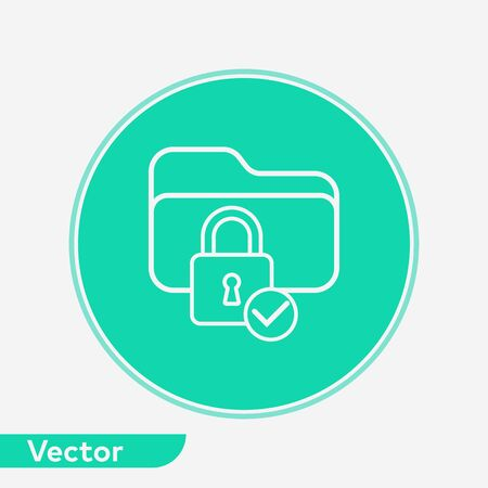 Locked icon vector, filled flat sign, solid pictogram isolated on white. Symbol, logo illustration. Foto de archivo - 129437010