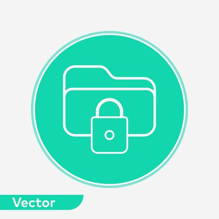 Locked icon vector, filled flat sign, solid pictogram isolated on white. Symbol, logo illustration.