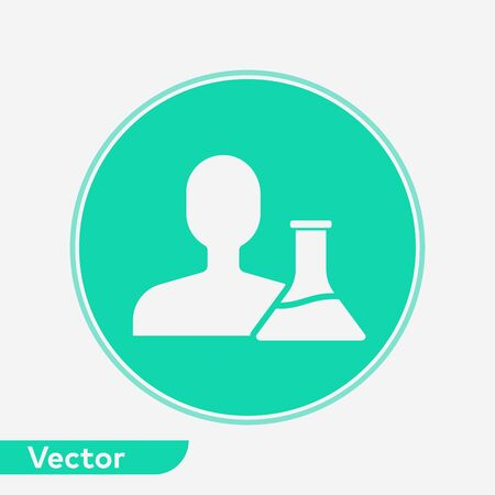 Scientist icon vector, filled flat sign, solid pictogram isolated on white. Symbol, logo illustration. Illustration