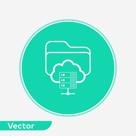 Server folder icon vector, filled flat sign, solid pictogram isolated on white. Symbol, logo illustration. Иллюстрация
