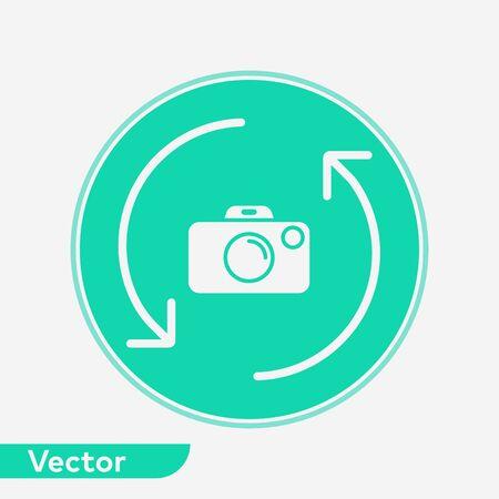 Camera icon vector, filled flat sign, solid pictogram isolated on white. Symbol, logo illustration. Ilustração