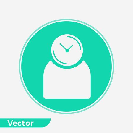 Punctuality icon vector, filled flat sign, solid pictogram isolated on white. Symbol, logo illustration.