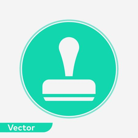 Stamp icon vector, filled flat sign, solid pictogram isolated on white. Symbol, logo illustration.
