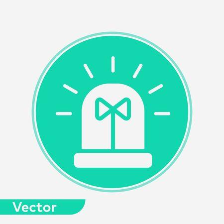 Siren icon vector, filled flat sign, solid pictogram isolated on white. Symbol, logo illustration. Stock Illustratie