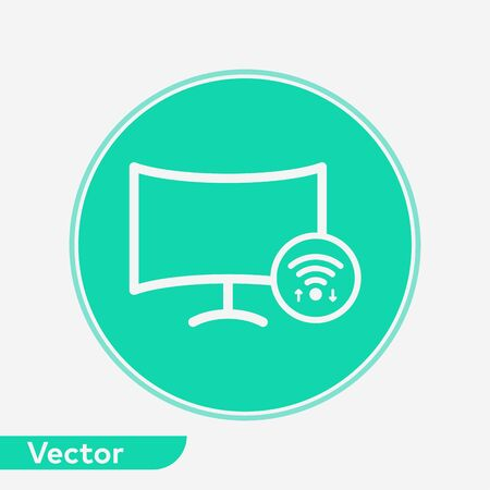 Smart television icon vector, filled flat sign, solid pictogram isolated on white. Symbol, logo illustration.