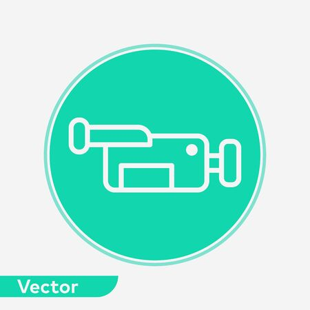 Video camera icon vector, filled flat sign, solid pictogram isolated on white. Symbol, logo illustration. Standard-Bild - 129571547