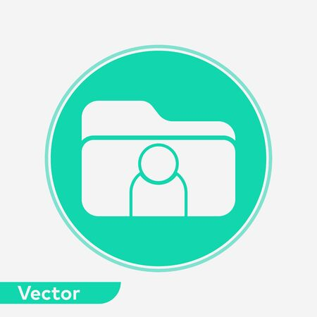 User folder icon vector, filled flat sign, solid pictogram isolated on white. Symbol, logo illustration.