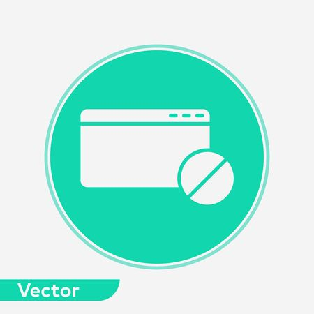 Website icon vector, filled flat sign, solid pictogram isolated on white. Symbol, logo illustration.