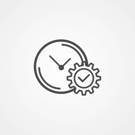 Time management icon vector, filled flat sign, solid pictogram isolated on white. Symbol, logo illustration.  イラスト・ベクター素材