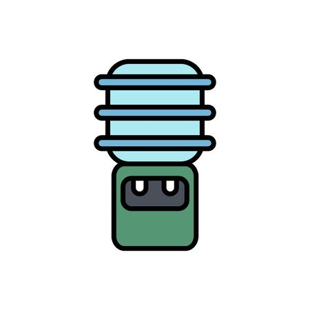 Water dispenser icon vector, filled flat sign, solid pictogram isolated on white. Symbol, logo illustration.x