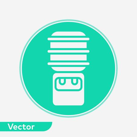 Water dispenser icon vector, filled flat sign, solid pictogram isolated on white. Symbol, logo illustration.