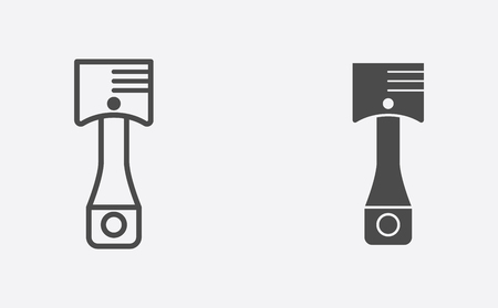Car piston icon, filled flat sign, solid pictogram isolated on white. Illustration