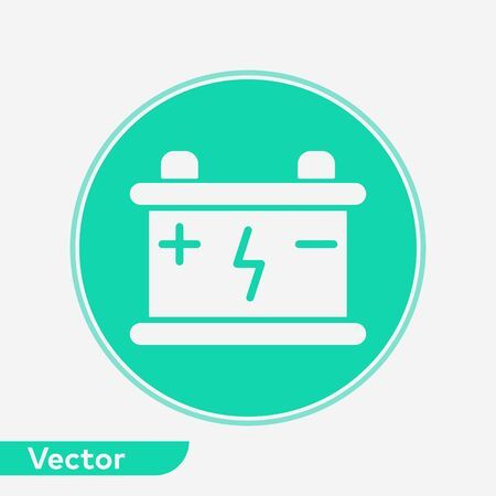 Car battery icon vector, filled flat sign, solid pictogram isolated on white. Symbol, logo illustration.