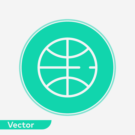 Basketball ball icon, filled flat sign, solid pictogram isolated on white.