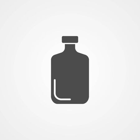 Glass bottle icon vector, filled flat sign, solid pictogram isolated on white. Symbol, logo illustration.