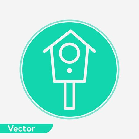 Bird house icon vector, filled flat sign, solid pictogram isolated on white. Symbol, logo illustration.