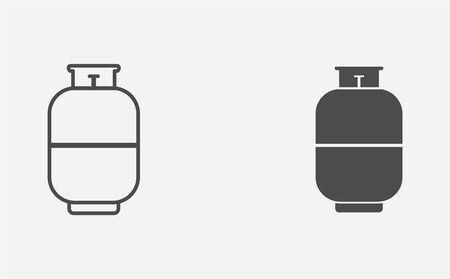Gas cylinder icon vector, filled flat sign, solid pictogram isolated on white. Symbol, logo illustration.