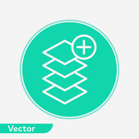 Layers icon, filled flat sign, solid pictogram isolated on white. Symbol.
