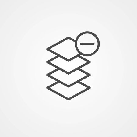 Layers icon vector, filled flat sign, solid pictogram isolated on white. Symbol, logo illustration.