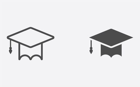 Mortar board icon vector, filled flat sign, solid pictogram isolated on white. Symbol, logo illustration.