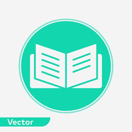 Open book icon vector, filled flat sign, solid pictogram isolated on white. Symbol, logo illustration.