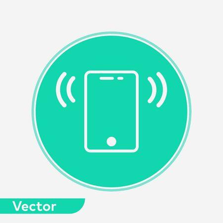 Mobile phone icon vector, filled flat sign, solid pictogram isolated on white. Symbol, logo illustration. Çizim
