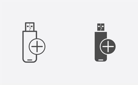 Pen drive icon vector, filled flat sign, solid pictogram isolated on white. Symbol, logo illustration. Illustration