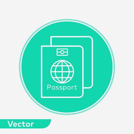 Passport icon vector, filled flat sign, solid pictogram isolated on white. Symbol, logo illustration. Фото со стока - 129593985
