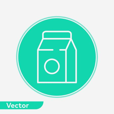 Milk icon vector, filled flat sign, solid pictogram isolated on white. Symbol, logo illustration.