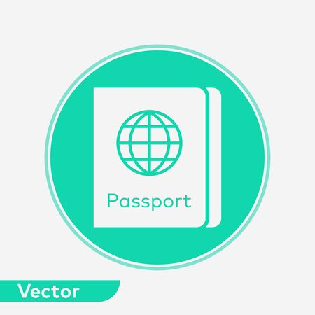 Passport icon vector, filled flat sign, solid pictogram isolated on white. Symbol, logo illustration. Фото со стока - 129594259