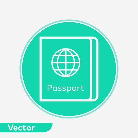 Passport icon vector, filled flat sign, solid pictogram isolated on white. Symbol, logo illustration. Иллюстрация