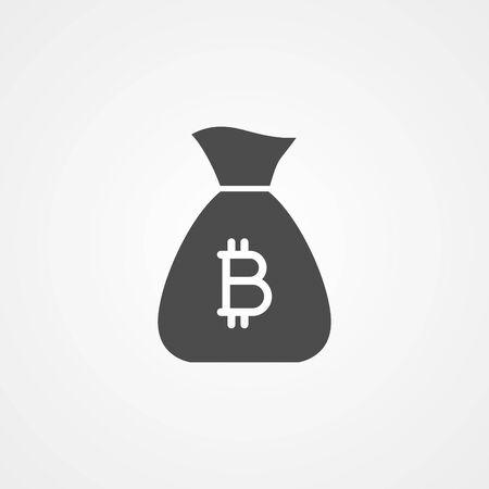 Money bag icon, filled flat sign, solid pictogram isolated on white. Symbol illustration. Stock Illustratie