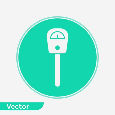 Parking meter icon vector, filled flat sign, solid pictogram isolated on white. Symbol, logo illustration. Banque d'images - 129594352