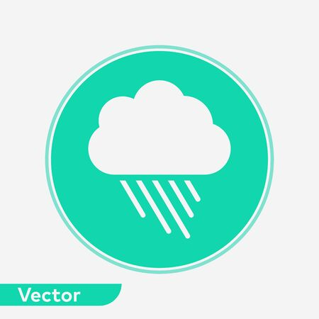 Rainy icon vector, filled flat sign, solid pictogram isolated on white. Symbol, logo illustration. Illusztráció